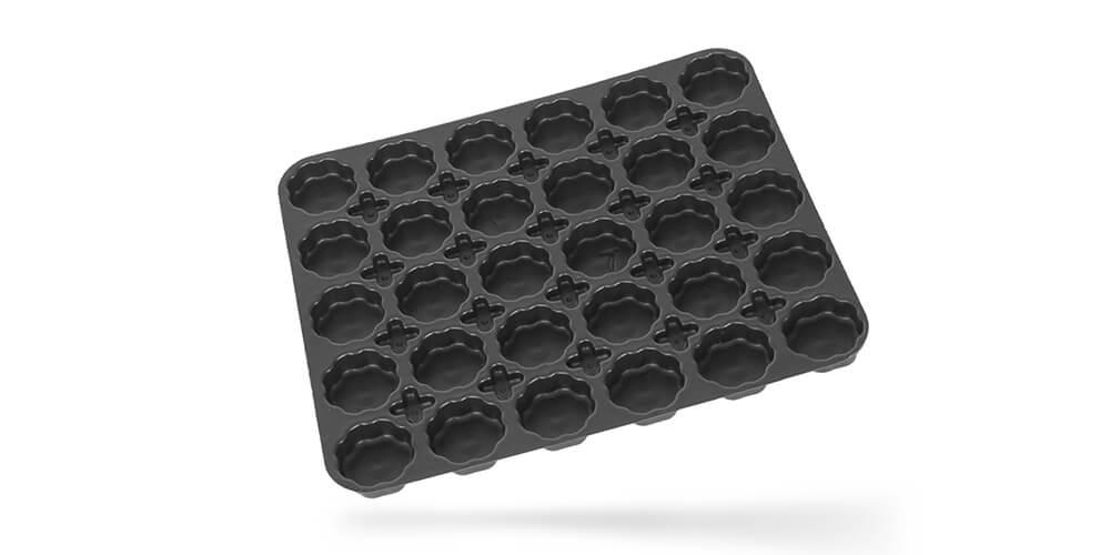 stampaggio vassoi personalizzati termoformati in plastica