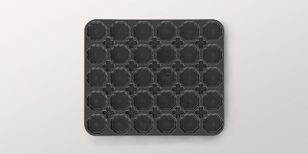 Interno scatola e termoformatura per rubinetteria