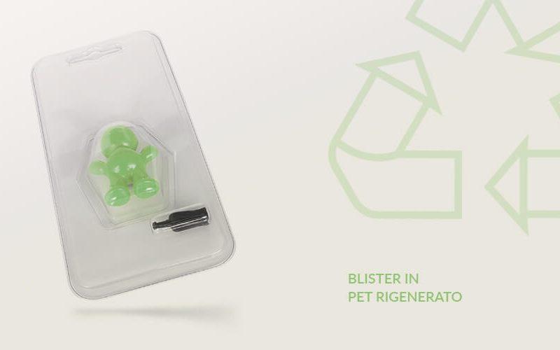blister realizzati con plastica riciclata